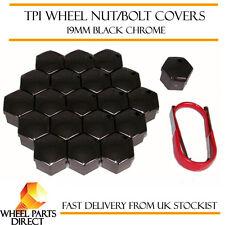 TPI Black Chrome Wheel Bolt Nut Covers 19mm for VW Transporter T5 03-15