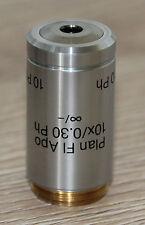 Reichert Mikroskop Microscope Objektiv Plan Fl Apo 10x/0,30 Ph