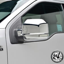 Triple Chrome ABS Full Mirror Cover w/Turn Signal Hole for 2015-2016 Ford F-150