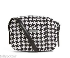 VERA BRADLEY Be Colorful MIDNIGHT HOUNDSTOOTH Crossbody Bag Tote Purse $68 Red+