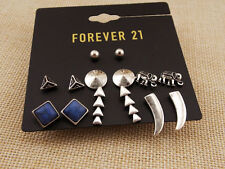 7Pairs New Forever21 Stud Earrings Mixed Shapes Gift Vintage Lady/Women Jewelry