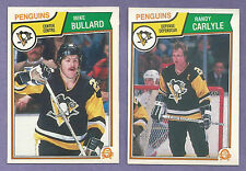 1983-84 OPC O-PEE-CHEE Pittsburgh Penguins Team Set