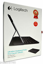 Logitech Wireless Ultrathin QWERTY Keyboard Folio Case for iPad Air Carbon Black