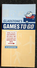 Gladstone's Games To Go by Jim Gladstone Car Games Book Free Shipping in US