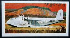 Imperial Airways  Short S23 Empire Flying Boat     Vintage Colour Card ## VGC