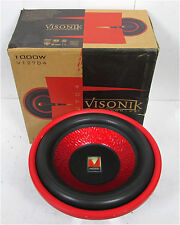 "VISONIK V127D4 12"" High Perfornamance 4-Ohm Car Subwoofer  TESTED"