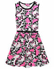 Girls Skater Dress Kids Butterfly Party Dresses New Age 7 8 9 10 11 12 13 Years