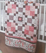 """Baby Steps Flannel Quilt Fabric Kit - 54"""" x 54"""" using RJR Baobab Flannels Pink"""