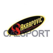Resistente a prueba de calor Genuino AKRAPOVIC 204x60 Oval Pegatina Calcomanía De Escape