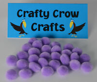 100 x NEW ORCHID 10mm POM POMS