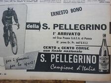 ADVERTISING PUBBLICITA' ERNESTO BONO   ACQUA S.PELLEGRINO -- 1960