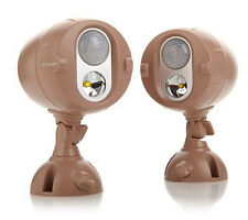 Mr. Beams NetBright 2-pack Wireless LED Networked Security Lights ~ Taupe
