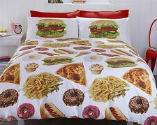 #BEDDING MUNCHIES FAST FOOD (230 X 220CM - KING SIZE) COTTON BLEND DUVET COVER