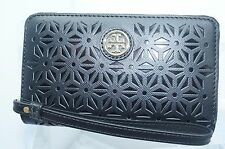 Tory Burch Robinson Smart Phone Wristlet Wallet Black Clutch Handbag NWT