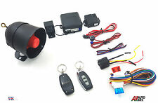 Universal CAR SECURITY SYSTEM ALARM IMMOBILISER CENTRAL LOCKING & SHOCK SENSOR