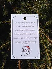 10 x Santa's Magic Key Tags, Christmas Eve Magic, Labels, Fundraising