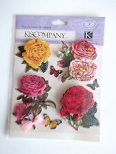 K&CO DIMENSIONAL STICKERS - ROSES flowers