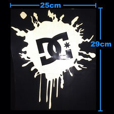DC Ken Block SPLAT Car Sticker Hoonigan Snowboard White Silver Reflective Large