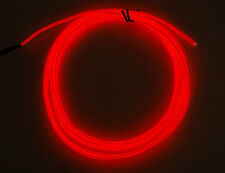 New LED EL Wire Neon Light 5M Glow Rope Tube Car Dance Party 10 Colours 12V