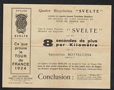 """SAINT-ETIENNE (42) Trac Publicitaire """"Cycles SVELTE"""" en 1924"""
