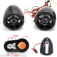 Motorcycle Bluetooth Audio System MP3 FM Radio Stereo Speaker &USB Phone Charger