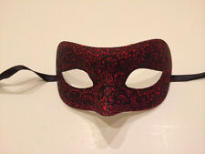 Red Black Leopard Venetian Masquerade Costume Ball Prom Dance Party Wedding Mask