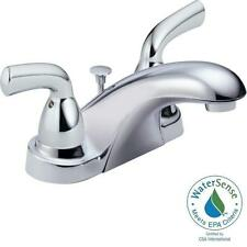 Delta Foundations 2-Handle 4 In. Centerset Bathroom Faucet With Pop-Up