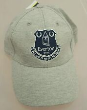 Official Everton Adults Grey and Navy Crested Baseball Cap