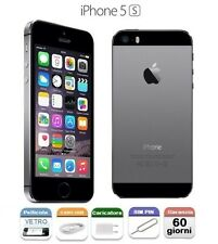 APPLE iPhone 5S 16gb GRADO C + ACCESSORI CONTRASSEGNO SPACE GREY GRIGIO SIDERALE