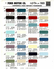 1969 FORD GALAXIE MERCURY LINCOLN THUNDERBIRD MUSTANG COUGAR 69 PAINT CHIPS MS 4