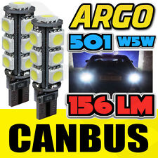 2 X XENON WHITE W5W T13 501 LED SIDE LIGHT / INTERIOR / NUMBER PLATE BULB 12 SMD