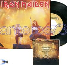 """IRON MAIDEN """"RUNNING FREE"""" RARE 45RPM MADE IN ITALY 1985 - MINT"""