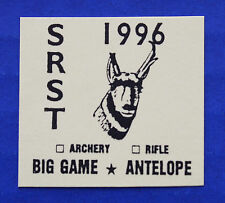(SR40) 1996 Standing Rock Sioux Indian Reservation Big Game-Antelope Stamp