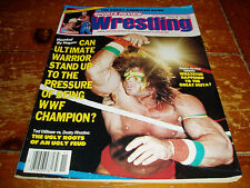 Sports Review Wrestling Magazine November 1990 Issue WWF / WWE