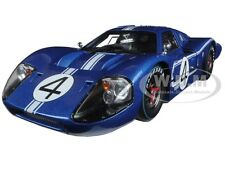 1967 FORD GT MK IV BLUE #4 LEMANS L.RUBY/D.HULME 1/18 SHELBY COLLECTIBLES SC426
