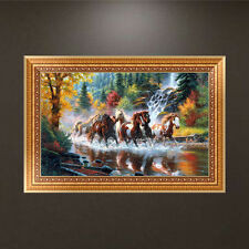 DIY 5D Diamond Embroidery Running Horses Painting Cross Stitch Craft Home Decor