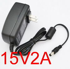 AC Converter Adapter DC 15V 2A Power Supply Charger US plug 5.5mm 30W 2000mA