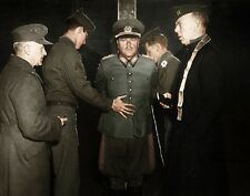 """Nazi General Anton Dostler executed by firing squad 8""""x 10"""" WWII Color Photo 482"""