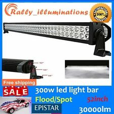 "52"" 300W LED Work Light Bar Spot Flood Combo Beam Fog OffRoad JEEP 4WD SUV BOAT"