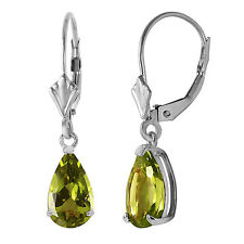 3 CTW 14K Solid White Gold Right Decisions Peridot Earrings