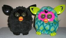 HASBRO FURBY BOOM PEACOCK and BLACK works great