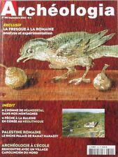 Archéologia n°392 - 2002 - La fresque à la romaine - Homme de Néandertal -