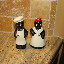 Vintage Salt and Pepper Shakers African American Black Americana Chef & Mammy