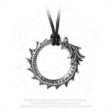 Jormungand Rune Pendant - Alchemy Gothic World Serpent Dragon - Viking Ouroboros