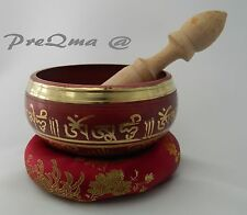 "4.5"" Tibetan Singing Bowl for  Meditation with Cushion and Mallet 3 day delivery"