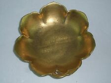 PICKARD Vintage Gold Encrusted Rose and Daisy Scalloped Dish, Nappy