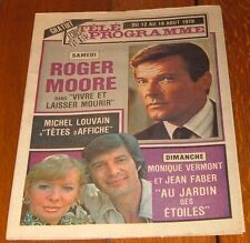 1978 MONTREAL TV GUIDE~ROGER MOORE~MONIQUE VERMONT~JEAN FABER~JACLYN SMITH