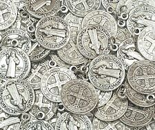 Lot of 100 Pcs. San Benito/St Benedict Medals-Blessed by Pope upon request-ITALY