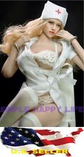1/6 woman nurse uniforms white dress set for Kumik Phicen Hot Toys ❶❶US seller❶❶