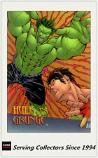 1997 Marvel VS Wildstorm Trading Cards Clear Chrome A6 Hulk VS Grunge